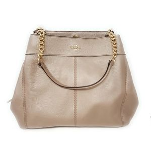 Coach Lexy Chain Metallic Pebble Shoulder Bag